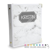 Signature KAD Sticker Binder - Marble