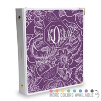 Signature KAD Sticker Binder - Floral Monogram