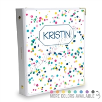 Signature KAD Sticker Binder - Multi-Colored Spots