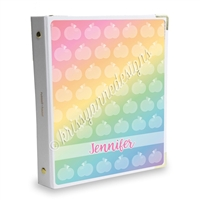 Signature KAD Sticker Binder - Rainbow Apples