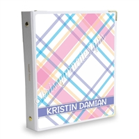 Signature KAD Sticker Binder - July Plaid