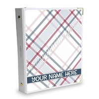 Signature KAD Sticker Binder - Holiday Plaid