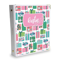 Signature KAD Sticker Binder - Holly Jolly Christmas Presents