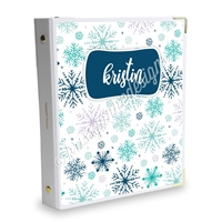 Signature KAD Sticker Binder - Winter Snowflakes