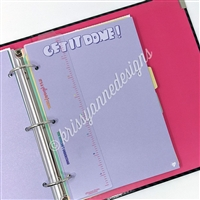 KAD Binder Bookmark - Rainbow Ombre Ruler