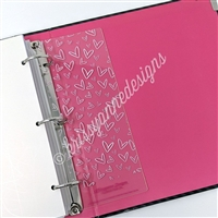 Pink Doodle Heart Page Lifter