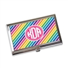 Business Card Holder - Bold Rainbow Stripes