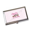 Business Card Holder - Pink Zebra Planner Friends