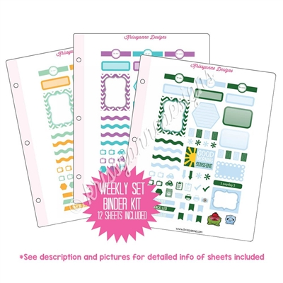 Binder Kit - Weekly Sets