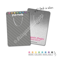 Rectangle Metal Bookmark - Bold Happy Steve