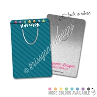 Rectangle Metal Bookmark - Gemtones Happy Steve