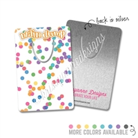 Rectangle Metal Bookmark - Rainbow Confetti