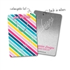Customized Rectangle Metal Bookmark - Colorful Stripes