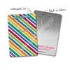 Customized Rectangle Metal Bookmark - Gemtone Stripes