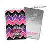 Rectangle Metal Bookmark - Chevron Planner Thing