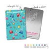 Customized Rectangle Metal Bookmark - Happy Steve