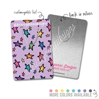 Customized Rectangle Metal Bookmark - Star Doodles