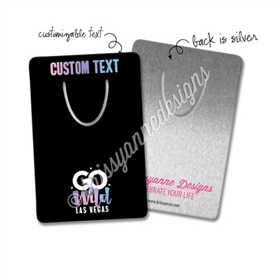 Personalized Rectangle Bookmark - GO Wild 2019 - Black