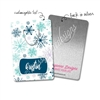 Personalized Rectangle Bookmark - Winter Snowflakes
