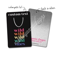Personalized Metal Bookmark - Wild Vibes