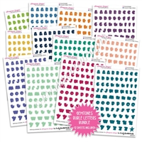 Transparent Bubble Letters Bundle - Gemtones