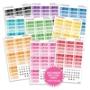 Monochrome Bubble Date Cover Bundle - Bold Rainbow