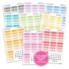 Monochrome Bubble Date Cover Bundle - Pastel Rainbow