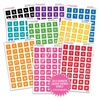Monochrome Number Square Bundle - Bold Rainbow