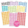 Monochrome Number Square Bundle - Pastel Rainbow
