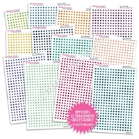 Transparent Extra Small Circles Bundle - Gemtones