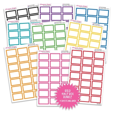 Half Box Outline Bundle - Bold Rainbow