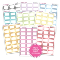Half Box Outline Bundle - Pastel Rainbow