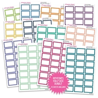 Half Box Outline Bundle - Gemtones