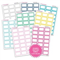 Half Box Outline Bundle - Colorful