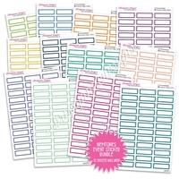 Monochrome Event Sticker Bundle - Gemtones