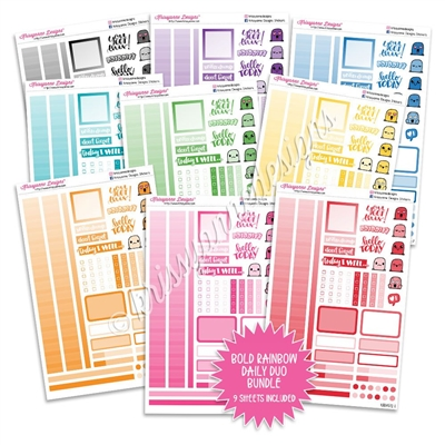 Monochrome Daily Duo Sampler Bundle - Bold Rainbow