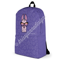 Medium Backpack - Sunset Llama