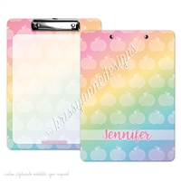 KAD Signature Clipboard - 9x12 - Rainbow Apples