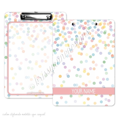 KAD Signature Clipboard - 9x12 - Happy Dots