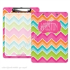 KAD Signature Clipboard - 9x12 - Bright Chevron