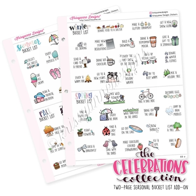 The 2017-2018 Celebrations Collection Add-On: Two-Page Bucket List