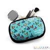 One Sided Zippered Pouch - Doodle Hearts