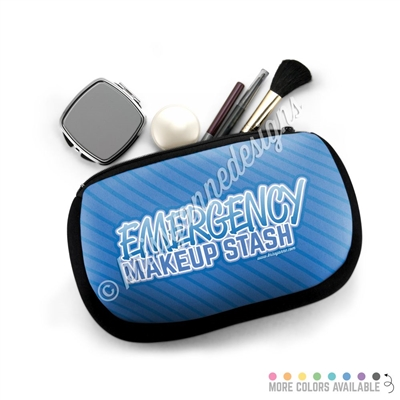One Sided Zippered Pouch - Emergency Makeup Stash