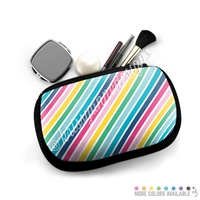One Sided Zippered Pouch - Rainbow Stripes