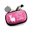 One Sided Zipper Pouch - Llive Llove Llama
