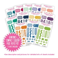 Compact Sticker Refill Kit - Monochromatic Sampler