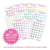 Compact Sticker Refill Kit - Monochromatic Icons - Pastel Rainbow