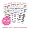 Compact Sticker Refill Kit - Monochromatic Mini Puffy Letters - Pastel Rainbow