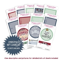Compact Sticker Refill Kit - Christmas Gift Labels