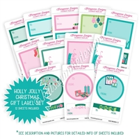 Compact Sticker Refill Kit - Holly Jolly Christmas Labels